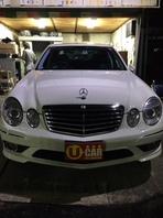 メルセデスベンツ E350 AVGーS 白 入庫しました。